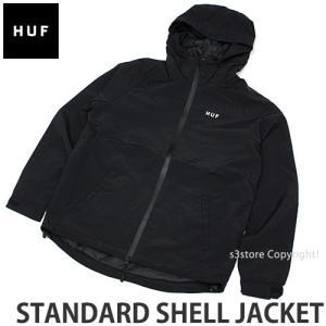 ハフ スタンダード シェル ジャケット HUF STANDARD SHELL JACKET スケートボード ウィンドブレーカー 止水ジップ 反射 コーデ カラー:BLK|s3store