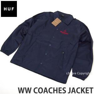 ハフ コーチ ジャケット HUF WW COACHES JACKET スケートボード ウィンドブレーカー アパレル コーディネート ストリート カラー:NAVY|s3store