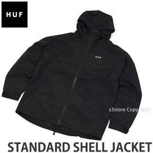 ハフ スタンダード シェル ジャケット HUF STANDARD SHELL JACKET スケートボード SKATEBOARD ウィンドブレーカー アパレル カラー:BLACK|s3store