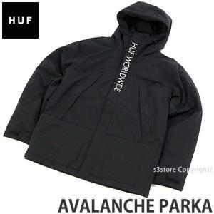 ハフ アバランチ パーカー HUF AVALANCHE PARKA スケートボード スケボー ファッション コーディネート ストリート JKT SKATE カラー:BLACK|s3store