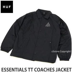 ハフ コーチジャケット HUF ESSENTIALS TT COACHES JACKET スケートボード スケボー ファッション コーデ ストリート 羽織り カラー:BLACK|s3store