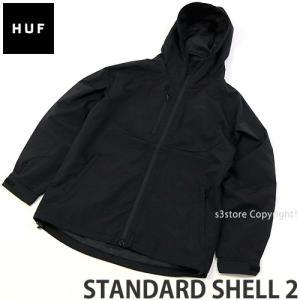 ハフ スタンダード シェル ツー HUF STANDARD SHELL 2 ジャケット アウター 服 スケート スケボー ファッション コーデ SKATE カラー:BLACK|s3store