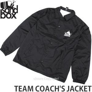 18 サンドボックス チーム コーチジャケット ウエア SANDBOX TEAM COACH'S JACKET メンズ スノーボード スノボ ウェア カラー:BLACK|s3store