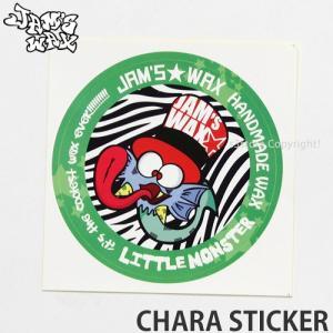 ジャムズワックス キャラステッカー JAMs WAX CHARA STICKER スノーボード ロゴ シール チューン SNOWBOARD サイズ:10cmx10cm|s3store