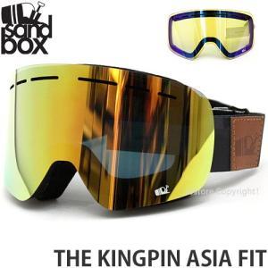18 サンドボックス キングピン アジアンフィット ゴーグル SANDBOX THE KINGPIN A.F 国内正規品 スノボ Frame:BK CAMO Lens:GOLD ION|s3store