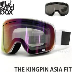 18 サンドボックス キングピン アジアンフィット ゴーグル SANDBOX THE KINGPIN A.F 国内正規品 スノボ Frame:WHITE Lens:PINK ION|s3store