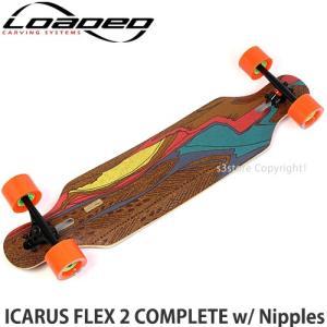 ローデッド イカロス コンプリート LOADED ICARUS FLEX 2 スケートボード ロング Paris V2 180mm Bk/Bk Kegel 80mm/80a サイズ:8.6x38.4|s3store