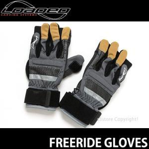 ローデッド フリーライド グローブ LOADED FREERIDE GLOVES スケートボード ロング プロテクター スライド ダウンヒル SKATEBOARD カラー:GRAY/BLACK|s3store