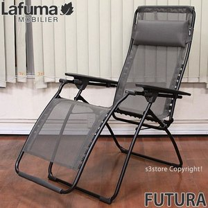 ラフマ フュチュラ Lafuma FUTURA イス 椅子 Chair チェア デッキチェア 折り畳み可能 カラー:Black/Graphite サイズ:71cm/113cm/83cm|s3store