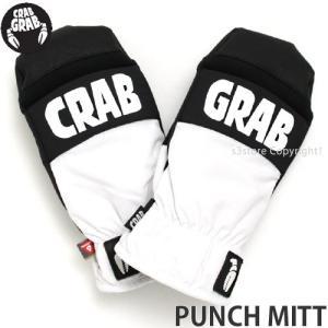 クラブ グラブ パンチ ミット CRAB GRAB PUNCH MITT スノーボード グローブ ミトン 手袋 防水 保温 SNOWBOARD GLOVE カラー:White|s3store