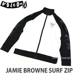 ボルコム ジェイミー ブラウン サーフ ジップ VOLCOM JAMIE BROWNE SURF ZIP メンズ ラッシュガード 日焼け カラー:WHT|s3store