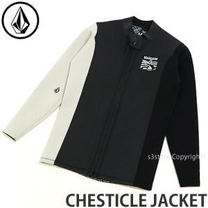ボルコム チェスティック ジャケット VOLCOM CHESTICLE JACKET メンズ ウェットスーツ スプリング サーフ ボード カラー:Black/White|s3store
