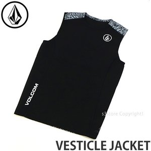 ボルコム ヴェスティック ジャケット VOLCOM VESTICLE JACKET メンズ ウェットスーツ スプリング サーフ ボード UV カラー:Black|s3store