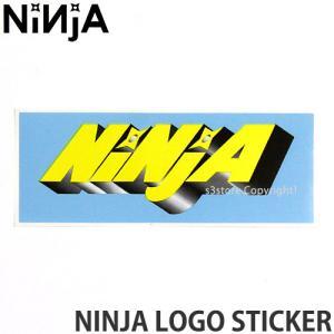 ニンジャ ロゴ ステッカー NINJA LOGO STICKER スケートボード デッキ チューン ブランド SKATEBOARD シール カラー:LIGHTBLUE サイズ:10.7×4.0