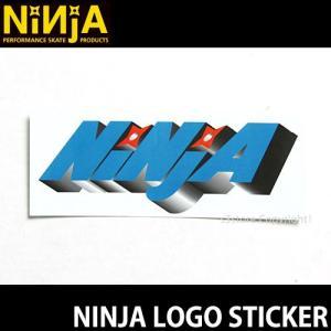 ニンジャ ロゴ ステッカー NINJA LOGO STICKER スケートボード デッキ チューン ブランド SKATEBOARD シール カラー:GREEN サイズ:12.8×5.0
