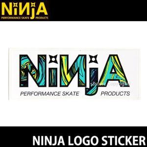ニンジャ ロゴ ステッカー NINJA LOGO STICKER スケートボード デッキ チューン ブランド SKATEBOARD シール カラー:WHITE サイズ:10.7×4.0