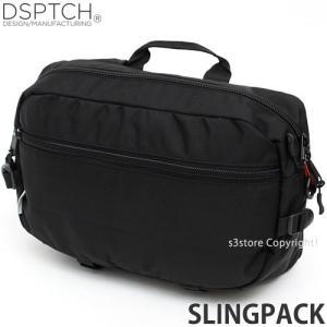 ディスパッチ スリング パック DSPTCH Slingpack メンズ 肩掛け 斜め掛け かばん コンパクト 高品質 アメリカ カラー:Black サイズ:15L|s3store