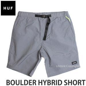 ハフ ボルダー ハイブリッド ショート 【HUF BOULDER HYBRID SHORT】 スケート メンズ ボトムス 半ズボン 短パン パンツ コーデ カラー:GRY|s3store