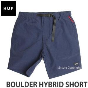 ハフ ボルダー ハイブリッド ショート 【HUF BOULDER HYBRID SHORT】 スケート メンズ ボトムス 半ズボン 短パン パンツ コーデ カラー:NAV|s3store