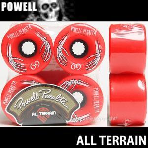 POWELL ALL TERRAIN FORMULA 【パウエル オール テレイン フォーミュラ】 スケートボード ソフト ウィール クルーザー ロングボード カラー:RED サイズ:69mm/78a|s3store