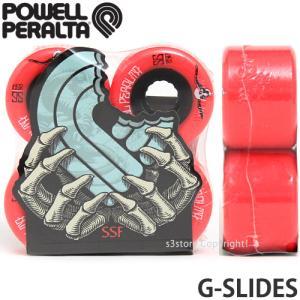 パウエル ジースライド POWELL G-SLIDES スケートボード SKATE ウィール ソフト コア クルージング カラー:Red サイズ:56mm/85a|s3store