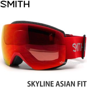 19model スミス スカイライン アジアン SMITH SKYLINE ASIAN FIT ゴーグル クロマポップ Frame:RISE Lens:CP EVERYDAY RED MIRROR|s3store