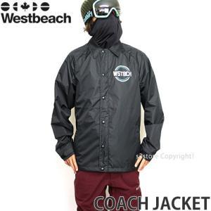17model ウエストビーチ コーチ ジャケット 【Westbeach COACH JACKET】 16-17 国内正規品 スノーボード スノボ ウェア メンズ SNOWBOARD WEAR MEN カラー:Black|s3store