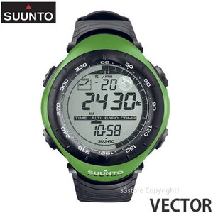 スント ベクター 【SUUNTO VECTOR】 ウォッチ 腕時計 アウトドア 国内正規品 高度計 気圧/温度計 コンパス 登山 耐久性 生産終了 カラー:LIME GREEN s3store