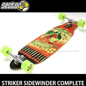 セクターナイン ストライカー サイドワインダー コンプリート SECTOR 9 STRIKER スケートボード サーフ カラー:Red/Lime SIZE:9.5