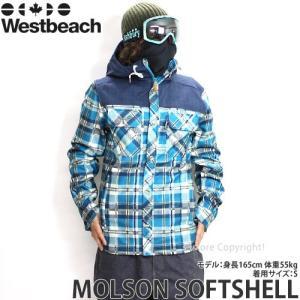 16 ウエストビーチ モルソン ソフトシェル 【Westbeach MOLSON SOFTSHELL】 国内正規品 スノーボード メンズ ウェア SNOWBOARD WEAR カラー:SEAWEED PLAID|s3store