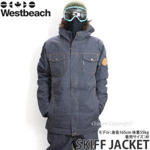 16 ウエストビーチ スキフ ジャケット 【Westbeach SKIFF JACKET】 国内正規品 スノーボード スノボ メンズ ウェア ウエア SNOWBOARD WEAR カラー:INDIGO DENIM|s3store