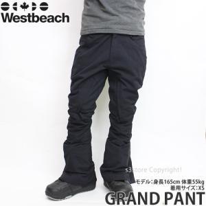 16 ウエストビーチ グランド パンツ 【Westbeach GRAND PANT】 国内正規品 スノーボード スノボ メンズ ウェア ウエア SNOWBOARD WEAR MENS カラー:BLACK|s3store