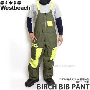 16 ウエストビーチ バーチ ビブパンツ 【Westbeach BIRCH BIB PANT】 国内正規品 スノーボード スノボ バックカントリー メンズ ウエア SNOWBOARD Col:COMMANDO|s3store