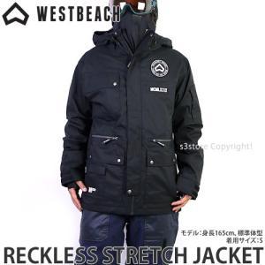 ウエストビーチ ストレッチ ジャケット WESTBEACH RECKLESS STRETCH JACKET 国内正規品 スノーボード メンズ ウエア SNOW カラー:Black|s3store