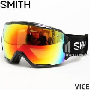 16 スミス バイス ゴーグル SMITH VICE 15-16 スノボ GOGGLE フレームカラー:BLACK レンズカラー:RED SOL-X MIRROR|s3store
