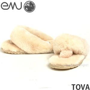 エミュー トバ レディース シープスキン サンダル スリッパ emu TOVA カラー:NATURAL|s3store