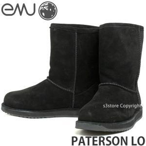 エミュー パターソン ロー emu PATERSON LO 国内正規品 ムートン ブーツ レディース 防水 オーストラリア スエード 抗臭 カラー:BLACK|s3store