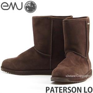 エミュー パターソン ロー emu PATERSON LO 国内正規品 ムートン ブーツ レディース 防水 オーストラリア スエード 抗臭 カラー:CHOCOLATE|s3store