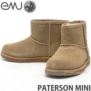 エミュー パターソン ミニ emu PATERSON MINI ムートン ブーツ レディース 撥水 オーストラリア スエード カウスキン シープスキン メリノ カラー:CHESTNUT|s3store
