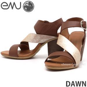 エミュー ドーン emu DAWN サンダル 靴 レディース ウィメンズ 女性 ヒール EVA ストラップ ファッション コーディネート カラー:BROWN|s3store