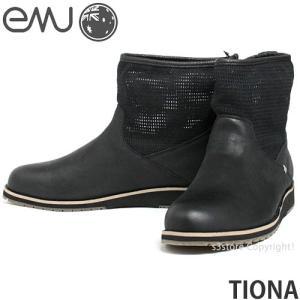 エミュー ティオナ emu TIONA 国内正規品 レディース ウィメンズ ブーツ メッシュ ショート 軽量 オーストラリア カラー:BLACK|s3store
