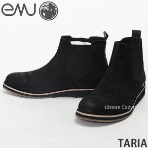 エミュー タリア emu TARIA レディース ウィメンズ サイドゴア ブーツ スウェード ショート オーストラリア WOMENS BOOTS AUSTRALIA カラー:BLACK|s3store