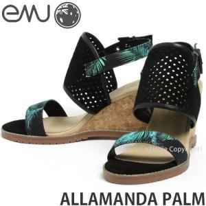 エミュー アラマンダ パーム emu ALLAMANDA PALM 国内正規品 ウェッジソール サンダル レディース ヒール SANDAL WEDGE Jimmy Chooデザイナー カラー:BLACK|s3store