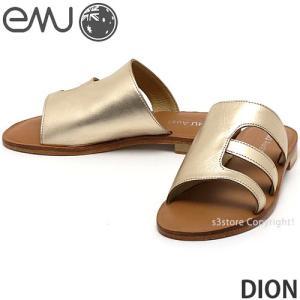 エミュー ディオン emu DION 国内正規品 サンダル レディース 女性 フラット ミュール レザー ファッション コーディネート カラー:Gold|s3store