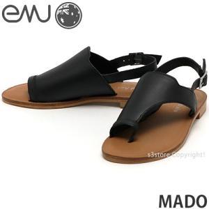 エミュー マド emu MADO 国内正規品 サンダル レディース 女性 フラット ミュール トング レザー ファッション コーディネート カラー:Blk|s3store