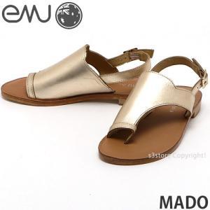 エミュー マド emu MADO 国内正規品 サンダル レディース 女性 フラット ミュール トング レザー ファッション コーディネート カラー:Gold|s3store