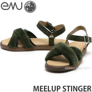 エミュー emu MEELUP STINGER 国内正規品 サンダル レディース 女性 フラット ミュール ストラップ ファッション コーデ カラー:Olive|s3store