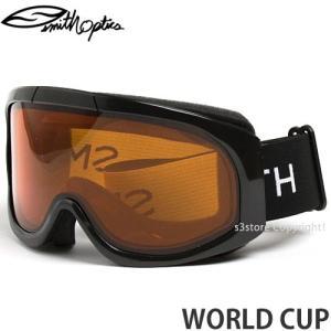 17 スミス ワールドカップ ゴーグル SMITH WORLD CUP スノーボード スキー SKI GOGGLE Frame:BLACK Lens:GOLD LITE|s3store