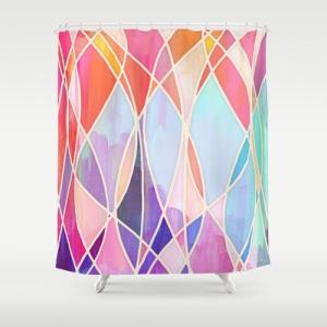 ソサエティシックス Society6 ブランド シャワーカーテン サイズ:約188cm × 約180...