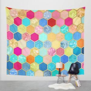 ソサエティシックス Society6 ブランド タペストリー 壁掛け tapestry おしゃれ - L:約224cm × 約264cm|s6-japan